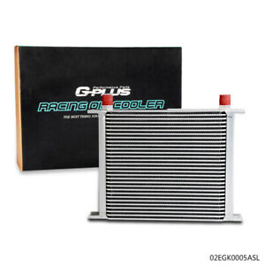 Silver Universal Full Aluminum Engine Transmission Oil Cooler 30 Row An 10