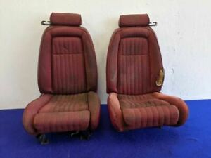 1991 Ford Mustang Gt 5 0l Convertible Seats Front Driver Passenger Tracks Oem