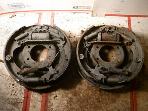 Ford 9 Nine Inch Used Factory Oem 10 X 2 Break Backing Plates Small Bearing