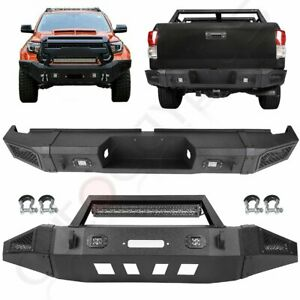 Steel Front Rear Bumper W Led Light D Ring Winch For 2007 2013 Toyota Tundra