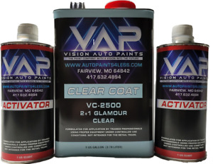 Vc 2500 Vap Urethane Glamour Clear Coat Gallon With Activator Kit Mix 2 To1