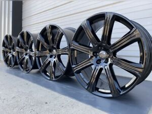 Volvo 21 Xc90 Wheels Gloss Black 2016 2020 70423 Set Of 4 With Factory Caps