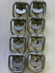 8 Steel D Rings Clips Tie Down For Trailer Truck Chain Anchor Bolt On