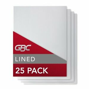 Gbc Binding Presentation Covers 8 34 X 11 14 Lined Pattern 25 Pack Report
