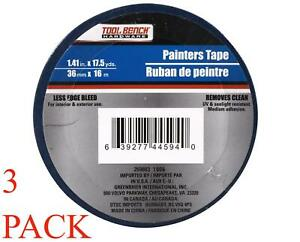 3 Rolls Painters Tape General Purpose Masking 54ft Usa Seller Ships Fast