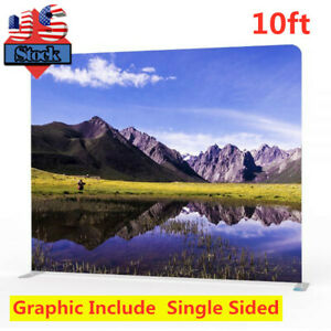 Usa 10ft Tension Fabric Exhibition Display Pop Up Single Sided Graphic Include
