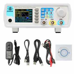 Dual Channel Function Pulse Signal Generator 1hz 100mhz 2 4 Display Jds6600 60m