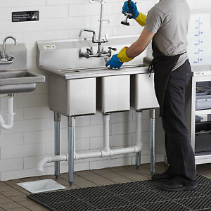 39 3 compartment Stainless Steel Commercial Nsf Pot Sink Without Drainboards