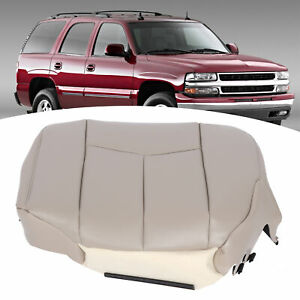 Driver Bottom Seat Cover Artificial Leather For Chevy Tahoe Suburban Yukon 03 06