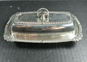 Vintage Portsmouth Silverplate Butter Dish