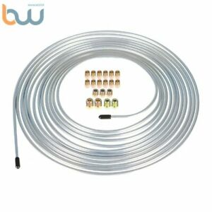 3 16 Od 25 Ft Steel Brake Line Tubing Coil And Fitting Kit 16 Fittings