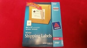 Avery 5165 Laser Full Sheet Labels 8 1 2 X 11 100 Labels Box