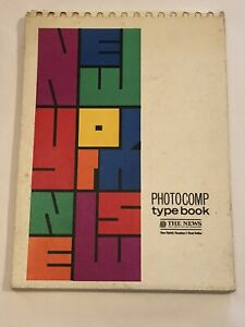 Photocomp Type Book By The New York News Rare Type Specimen Book 1971