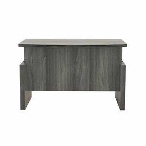 Mayline Height adjustable 72 Bow Front Desk With Base Abdh7242lgs