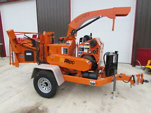 Altec Cfd1217 12 Capacity Drum Style Wood Chipper Kubota Diesel Only 718 Hrs