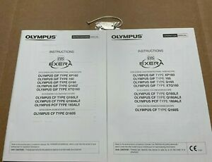 Olympus Gif 160 Cf 160 Pcf 160 Video Endoscope Manuals And Scope Case Key