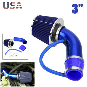 3 Auto Cold Air Intake Filter Alumimum Induction Kit Pipe Hose System Universal