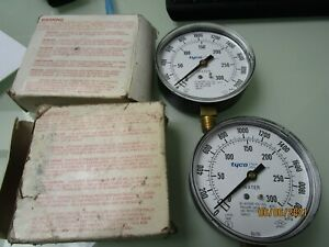 2 Tyco Fire Products Water Pressure Gauges 0 300 Psi