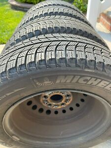 Set Of Michelin X Ice 195 65r15 Tires With 15x6j Steel Wheels