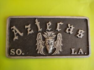Car Club Plaque License Plate Topper Hot Rod Muscle Car Parts Edelbrock Holley