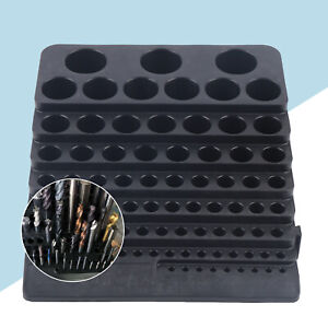 84 Hole Storage Holder Drill Bit Collet Tool Box Rack Organizer Stand Container