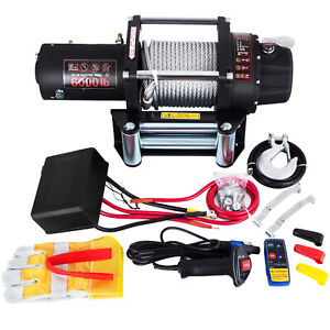 Vevor Recovery Electric Winch 6000lbs 12v Remote Control Series Wound Recovery