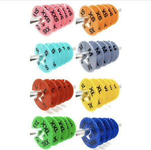 40 Pack Clothing Rack Clothes Size Dividers Round Hanger Dividers