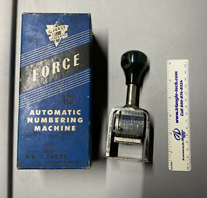 Wm A Force Automatic Numbering Machine