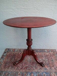Parlor Table Mahogany Oval 1890 Antique Pedestal Type W Claw Foot American Made