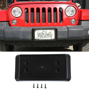 For Jeep Rubicon Front License Plate Mounting Bracket For 2013 2017 Jeep Jk Jku