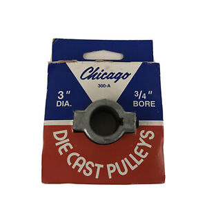 Chicago Die Cast Single V Groove Pulley A Belt 3 Od X 3 4 Bore 300 a