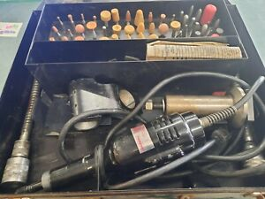 Dumore Hand Grinder 8427 Kit Bent Shaft With Case Bits More As Is