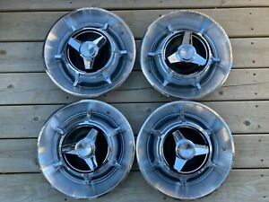 1966 1967 Dodge Charger Spinner Hubcaps Wheel Covers Oem