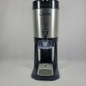 Fetco L3d 10 Luxus 1 Gallon Thermal Coffee Tea Dispenser On A Stand Pre owned