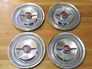 Pretty Set 1955 Buick Roadmaster 15 Spinner Wheelcovers Hubcaps