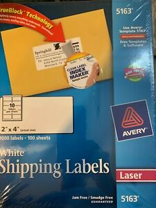 5163 Avery Shipping Labels Trueblock Technology permanent Adhesive 1000 Labels