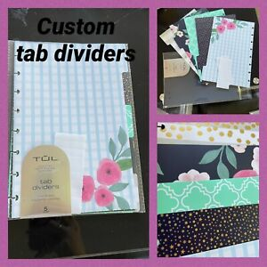 Tul Planner Tab Dividers Custom Junior Size Assorted Fashion Pack Of 5 new