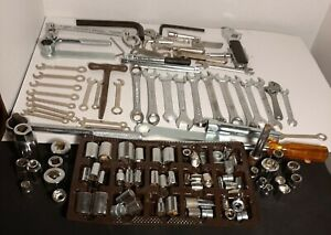 Vintage Lot Screwdrivers Sockets Wrenches For Parts 65 Sockets 28 Wrenches