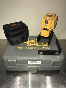 Pacific Laser Systems Pls4 Red Cross Line Laser System W case And Brackets