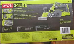 new In Box Ryobi 18v One 3 1 4 inch Cordless Planer tool Only P611