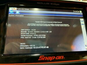 Snap On Solus Edge Touch Diagnostic Full Function Scanner 20 4