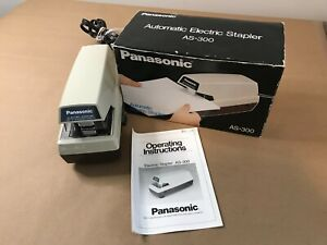 Panasonic Electric Stapler As 300 Commercial Vintage Heavy Duty With Box