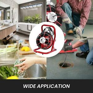 75 X 3 8 Drain Cleaner Cleaning Machine W foot Switch Plumbing Sewer Snake