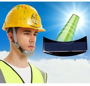 Solar Power Fan Helmet Outdoor Working Safety Hard Construction Hat Abs Material