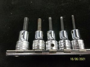 Snap On Tools Sae 5pc 3 8 Drive Hex Allen Socket Driver Set