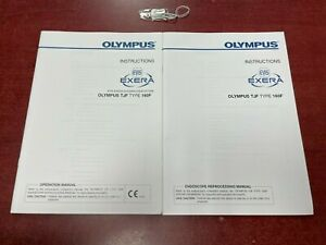 Olympus Evis Exera Tjf Type 160f Operation Reprocessing Manuals Case Key