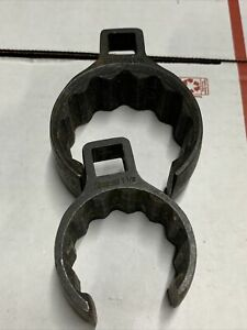 2pcs Snap On 1 2 Drive 1 7 8 1 1 2 Flare Nut Crowfoot Wrench
