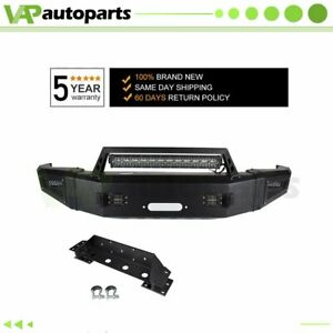 For 15 17 Chevrolet Silverado 2500 Steel Front Bumper Black Complete Assembly