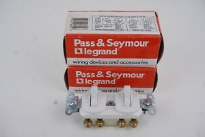 Lot Of 2 Pass Seymour 693 w Combination Device 3 way Switches 120 277vac 15a