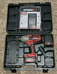 Earthquake Eq12xte 20v Cordless Impact Wrench 1 2 With 4ah Battery Charger